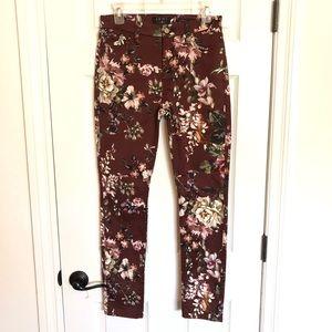 Jen7 for 7FAMK floral high rise jeans sz. 6